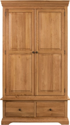 Sweet Dreams Grayson Oak 2 Door 2 Drawer Wardrobe