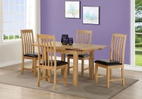 Sweet Dreams Heald Oak Extending Dining Table and 4 Chairs