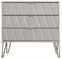 Sweet Dreams Jenson Grey and White 3 Drawer Chest
