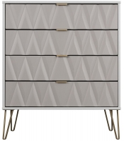 Sweet Dreams Jenson Grey and White 4 Drawer Chest