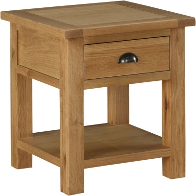 Sweet Dreams Kielder Oak 2 Drawer Lamp Table
