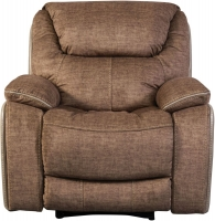Sweet Dreams Langley 1 Seater Fawn Fabric Recliner Sofa