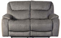 Sweet Dreams Langley 2 Seater Grey Fabric Recliner Sofa