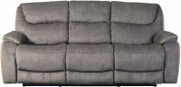 Sweet Dreams Langley 3 Seater Grey Fabric Recliner Sofa