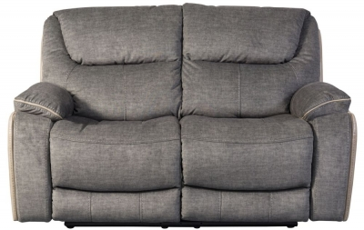 Sweet Dreams Langley 2 Seater Grey Fabric Recliner Sofa