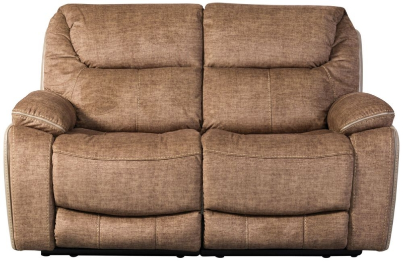 Sweet Dreams Langley 2 Seater Fawn Fabric Recliner Sofa