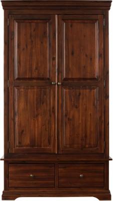 Sweet Dreams Lincoln Acacia 2 Door 2 Drawer Wardrobe