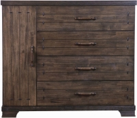 Sweet Dreams Mozart Antique Brown 1 Door 4 Drawer Chest