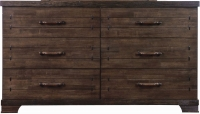 Sweet Dreams Mozart Antique Brown 6 Drawer Chest