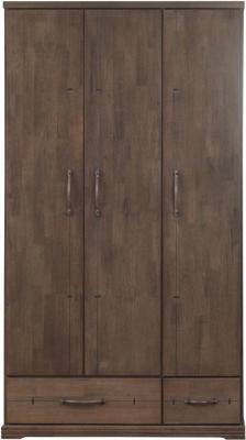 Sweet Dreams Mozart Antique Brown 3 Door Wardrobe