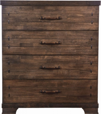Sweet Dreams Mozart Antique Brown 4 Drawer Chest