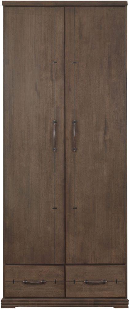 Sweet Dreams Mozart Antique Brown 2 Door Wardrobe