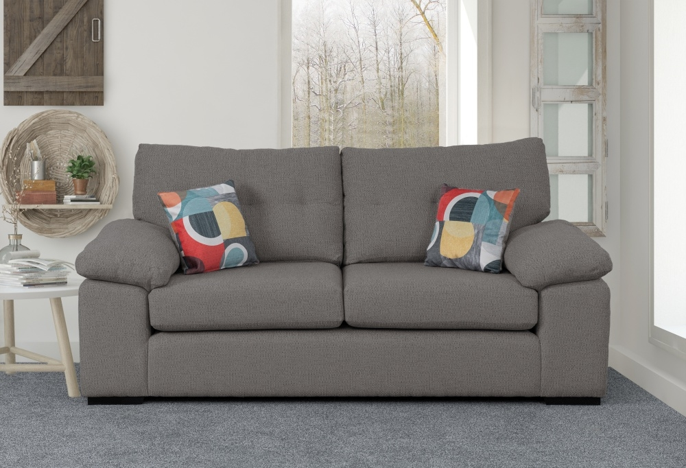 Sweet Dreams Rochester Charcoal Fabric Sofa
