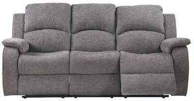 Sweet Dreams Sacaramento 3 Seater Dusk Fabric Recliner Sofa