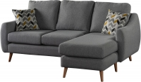 Sweet Dreams Severn Grey Fabric Chaise Sofa