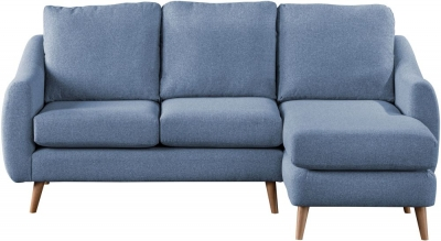 Sweet Dreams Severn Denim Fabric Chaise Sofa