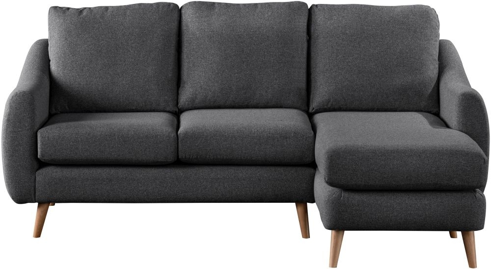 Sweet Dreams Severn Charcoal Fabric Chaise Sofa