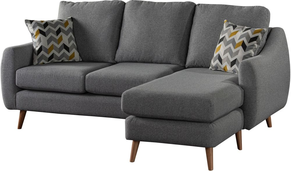 Sweet Dreams Severn Grey Fabric Chaise Sofa