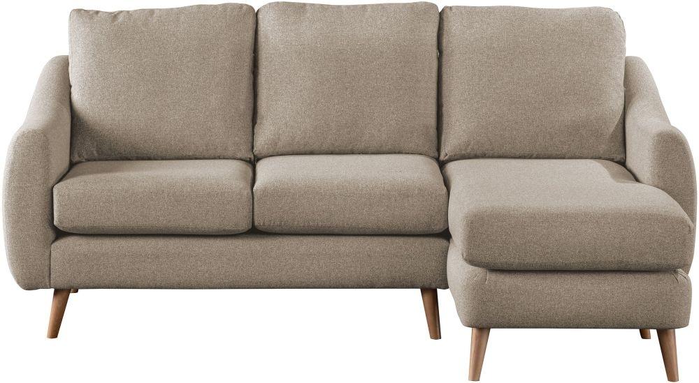 Sweet Dreams Severn Oatmeal Fabric Chaise Sofa