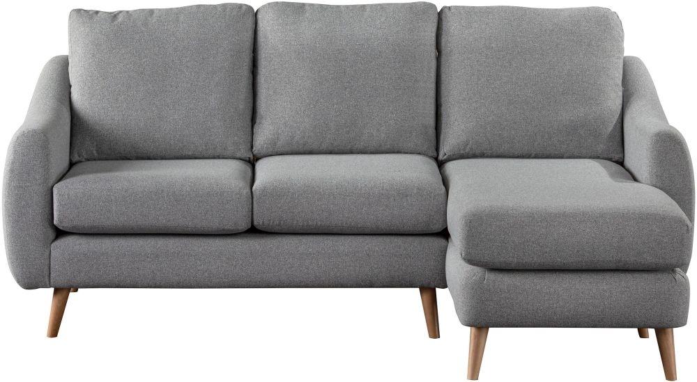 Sweet Dreams Severn Silver Fabric Chaise Sofa