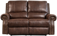 Sweet Dreams Wye 2 Seater Chestnut Fabric Recliner Sofa
