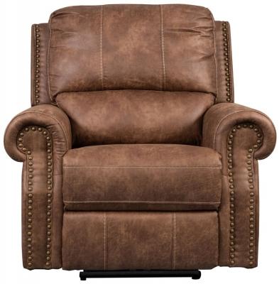 Sweet Dreams Wye 1 Seater Tan Fabric Recliner Sofa