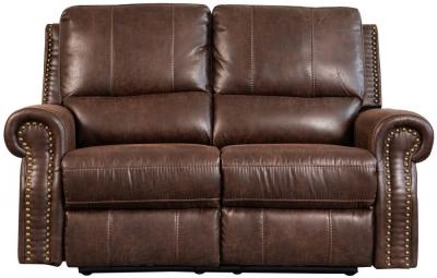 Sweet Dreams Wye 2 Seater Chestnut Fabric Recliner Sofa