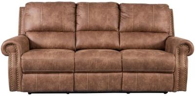 Sweet Dreams Wye 3 Seater Tan Fabric Recliner Sofa