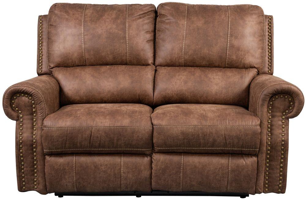 Sweet Dreams Wye 2 Seater Tan Fabric Recliner Sofa