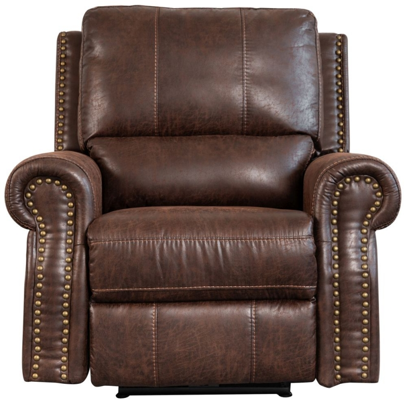 Sweet Dreams Wye 1 Seater Chestnut Fabric Recliner Sofa