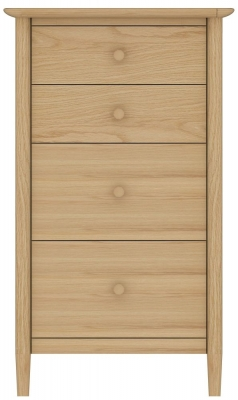 TCH Anais Oak Chest of Drawer - 4 Drawer