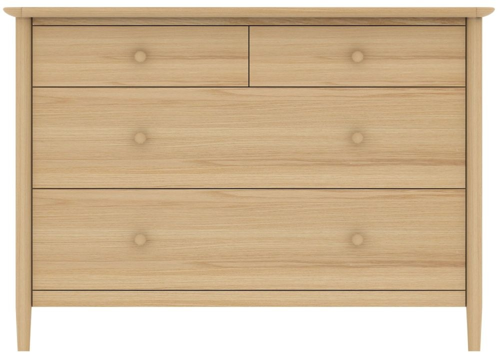 TCH Anais Oak Chest of Drawer - 2+2 Drawer