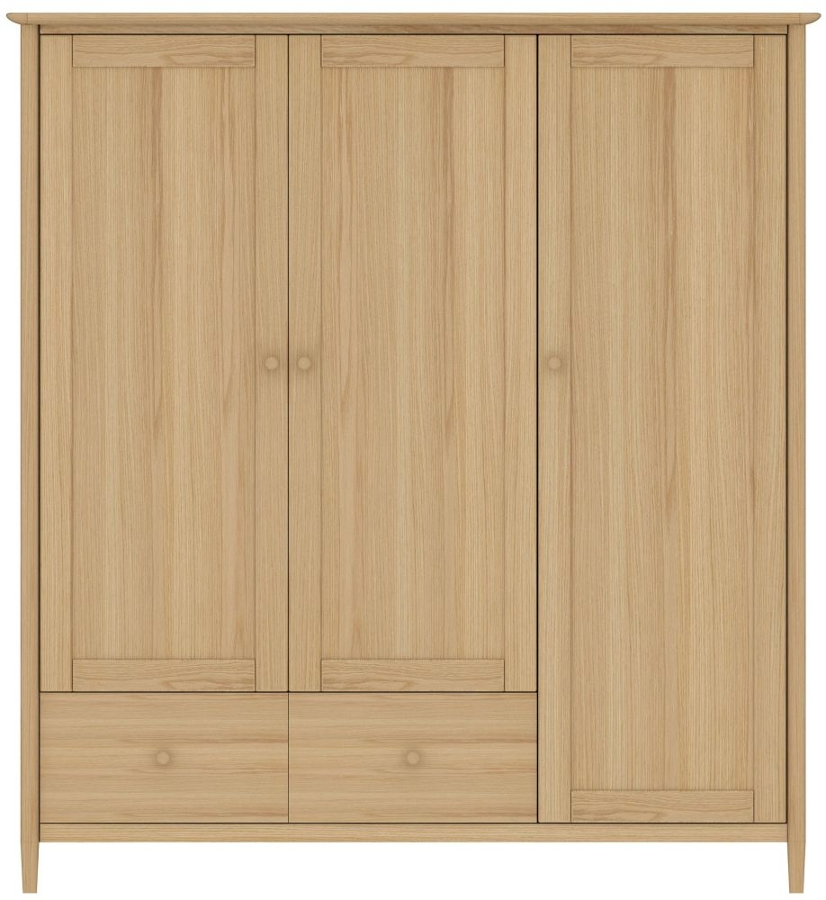TCH Anais Oak 3 Door 2 Drawer Triple Wardrobe