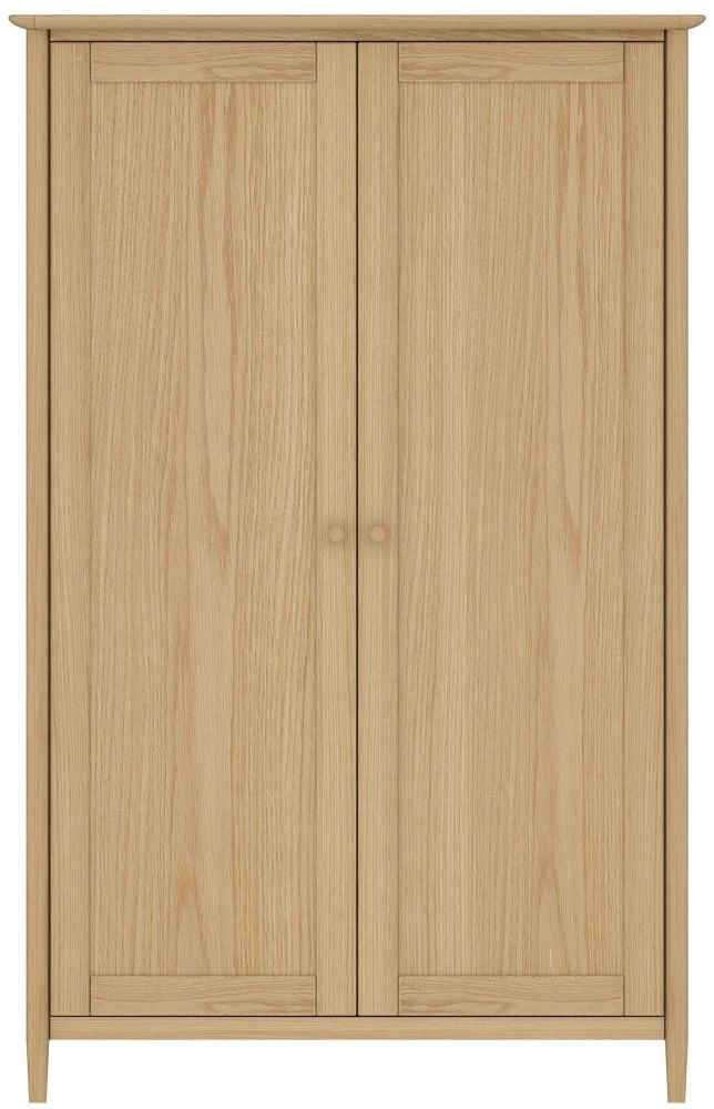 TCH Anais Oak 2 Door Double Wardrobe