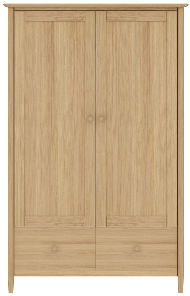 TCH Anais Oak 2 Door 2 Drawer Wardrobe