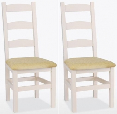 TCH Coelo Painted Amish Fabric Seat Dining Chair (Pair)