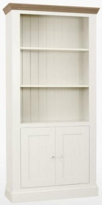 TCH Coelo 2 Door Bookcase - Oak and Painted
