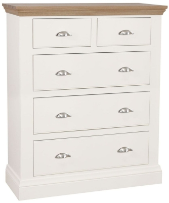 TCH Coelo 3+2 Drawer Chest - Oak and Painted
