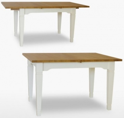 TCH Coelo 1 Leaf Medium Extending Dining Table COL106 - Oak and Painted