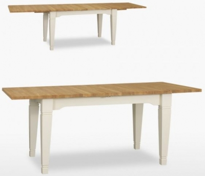 TCH Coelo 2 Leaves Medium Extending Dining Table COL123 - Oak and Painted