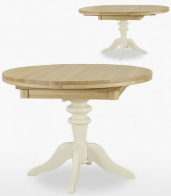 TCH Coelo Round Extending Dining Table - Oak and Painted