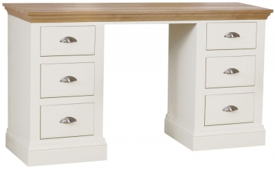 TCH Coelo Double Pedestal Dressing Table - Oak and Painted