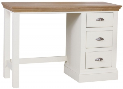 TCH Coelo Single Pedestal Dressing Table - Oak and Painted