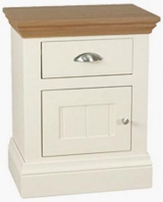 TCH Coelo 1 Left Hand Door Bedside Cabinet - Oak and Painted