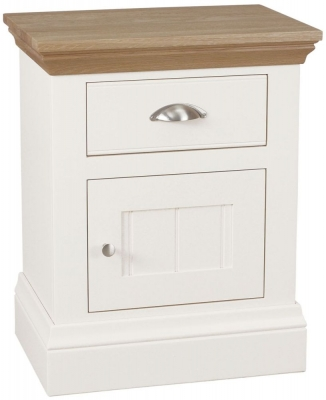 TCH Coelo 1 Right Hand Door Bedside Cabinet - Oak and Painted
