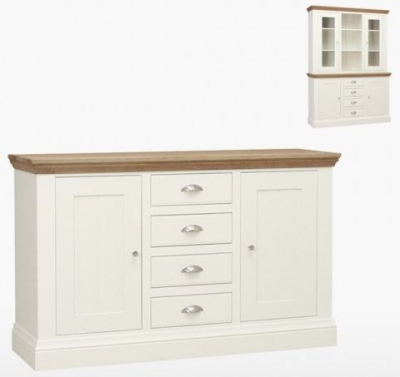 TCH Coelo 2 Door 4 Drawer Medium Sideboard - Oak and Painted