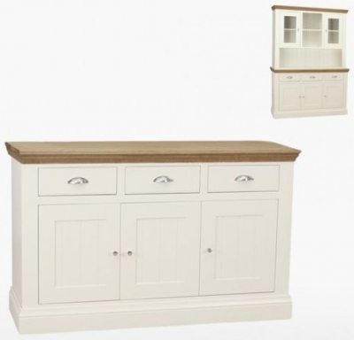 TCH Coelo 3 Door 3 Drawer Medium Sideboard - Oak and Painted