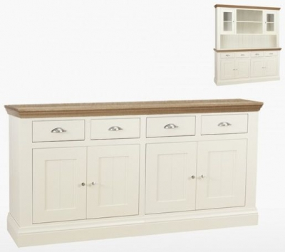 TCH Coelo 4 Door 4 Drawer Large Sideboard - Oak and Painted
