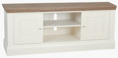 TCH Coelo Large TV Unit - Oak and Painted