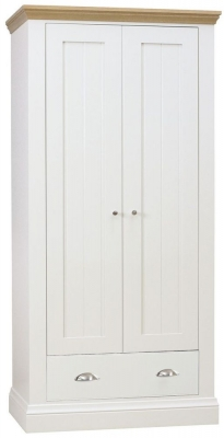 TCH Coelo 2 Door 1 Drawer Wardrobe - Oak and Painted
